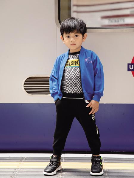 德蒙斯特童装品牌2020秋冬蓝色长袖外套