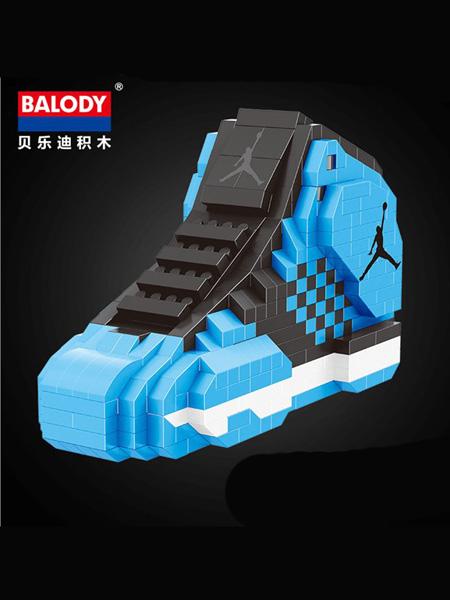 贝乐迪婴童玩具贝乐迪微颗粒串联拼装积木-篮球鞋