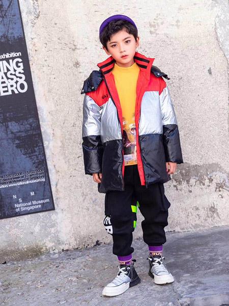 永福熊童装品牌2020秋冬灰黑色保暖外套
