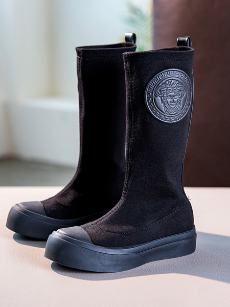 Cai.s Holley童鞋品牌2020秋冬高筒黑色靴子