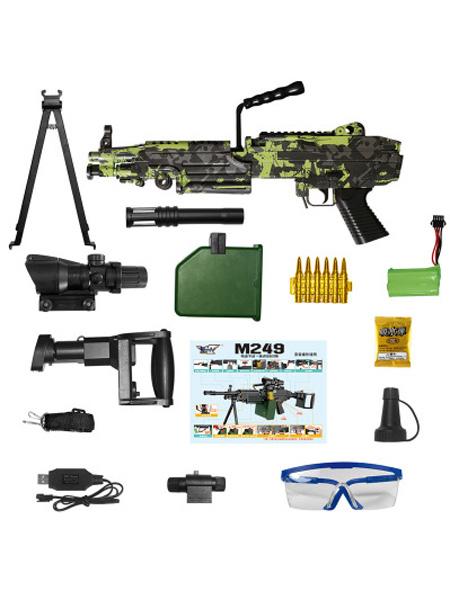 小月亮婴童玩具洛臣手自一体M249大菠萝下供水弹枪大儿童玩具大容量机关枪连扫玩