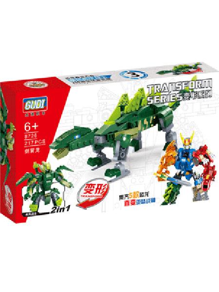 新科教婴童玩具绿色恐龙益智积木
