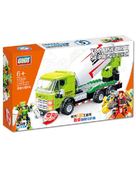 新科教婴童玩具水泥车益智积木