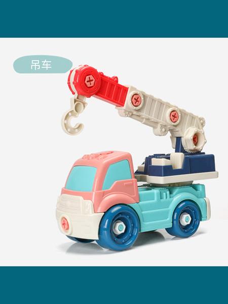 益生贝美婴童用品益生贝美儿童拆装工程车玩具大号可拆卸拼装汽车益智男孩3-4-6岁
