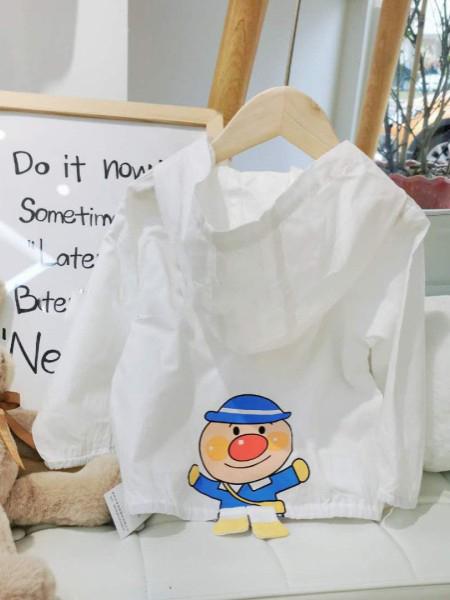 优米多童装品牌2020春夏连帽白色外套薄款