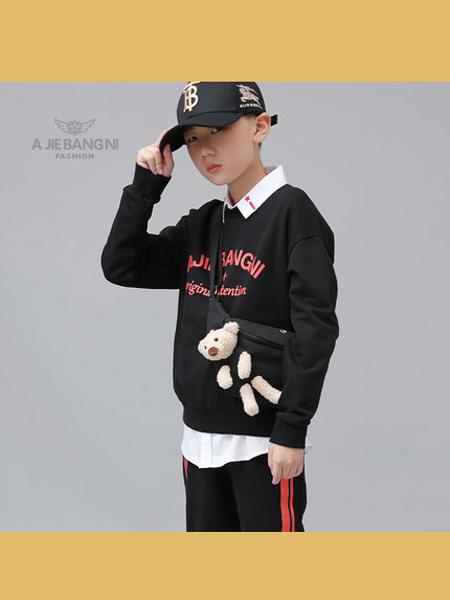 阿杰邦尼童装品牌2020阿杰邦尼 2020Q春秋季男中大童卫衣秋装男孩子圆领衫