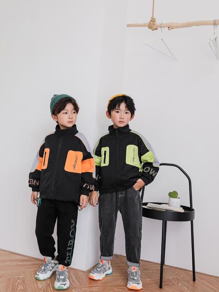 TU图零钱童装品牌2020秋冬橙绿两色休闲外套