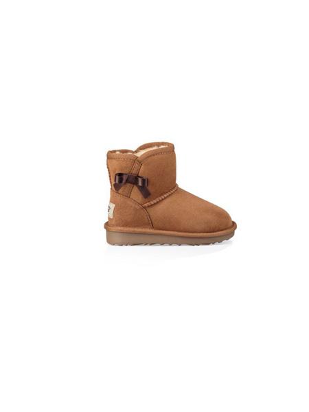UGG童鞋品牌2020秋冬蝴蝶结毛绒棕色雪地靴