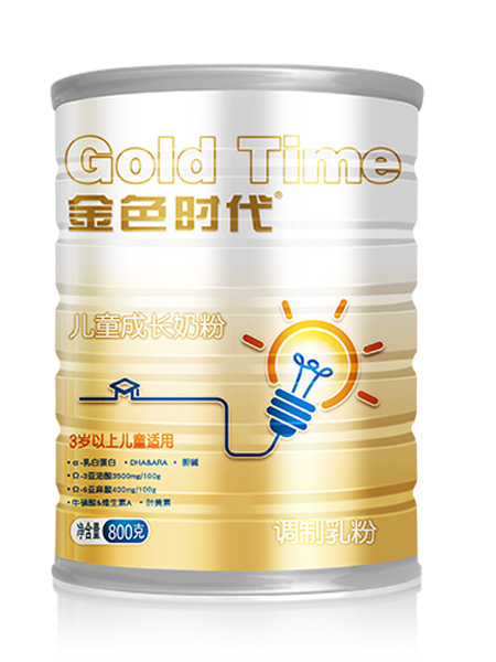 金薄金婴儿食品金色时代儿童成长奶粉