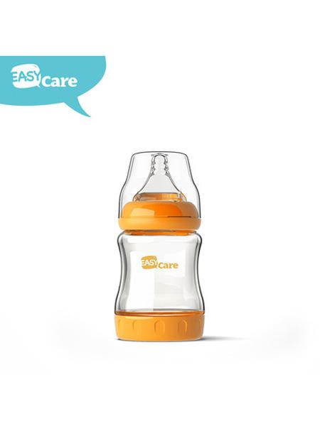 婴童用品easycare 新生儿玻璃奶瓶宽口径防胀气防呛奶瓶初生婴儿