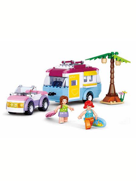 快乐小鲁班婴童玩具汽车街上