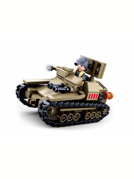 快乐小鲁班婴童玩具北非战役-CV33超轻型