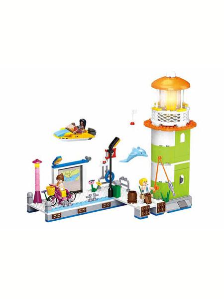 快乐小鲁班婴童玩具海豚湾码头