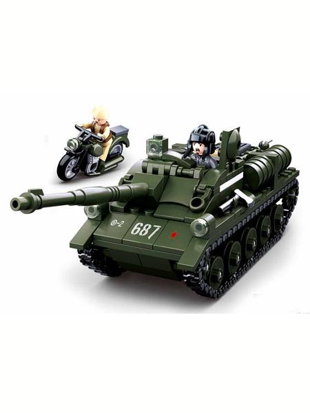 快乐小鲁班婴童玩具逆境重生-SU-85坦克歼