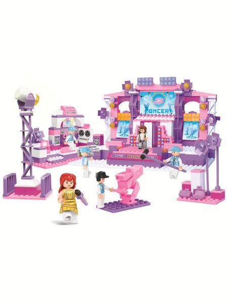 快乐小鲁班婴童玩具粉色梦想-梦想舞台