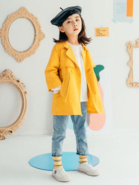 KISSABC童装品牌2020春黄色外套