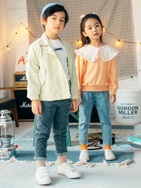 KISSABC童装品牌2020春浅绿色衬衫