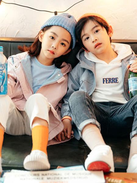 KISSABC童装品牌2020春粉色连帽外套