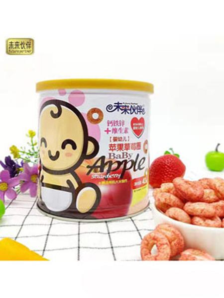 未来伙伴婴儿食品未来伙伴钙铁锌+维生素苹果草莓圈