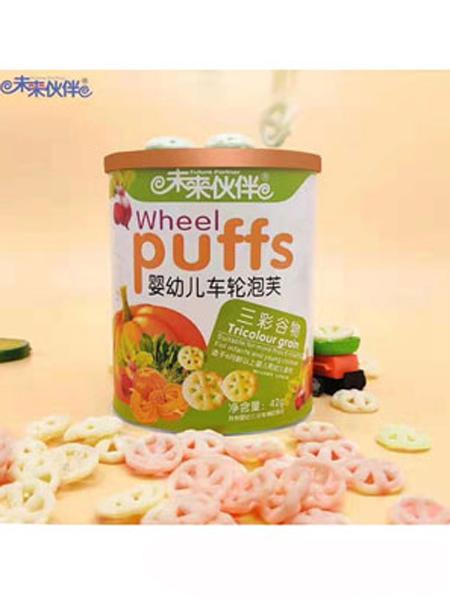 未来伙伴婴儿食品未来伙伴车轮泡芙-三彩谷物