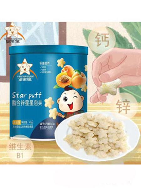 望宝强婴儿食品望宝强螯合锌星星泡芙-黄桃味