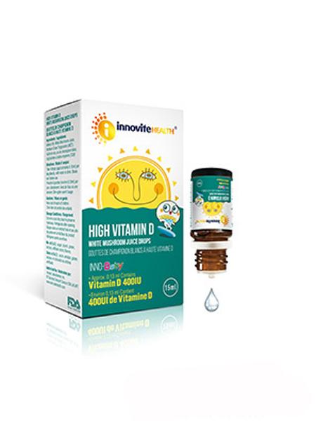 英珞婴儿食品英珞维高维生素D白蘑菇汁滴液饮品