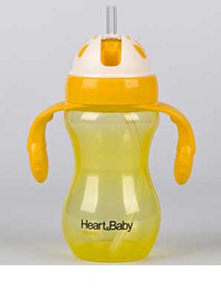 亨特贝贝婴童用品亨特贝贝PP吸管杯360ml手柄黄色