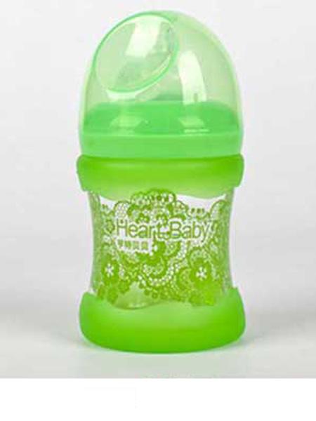 亨特贝贝婴童用品亨特贝贝宽口玻璃防摔初生瓶150ml绿色