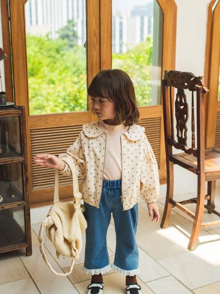 蒂萨纳D`sana童装品牌2020秋冬白色斑点外套