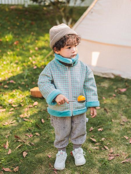 蒂萨纳D`sana童装品牌2020秋冬蓝色格子外套