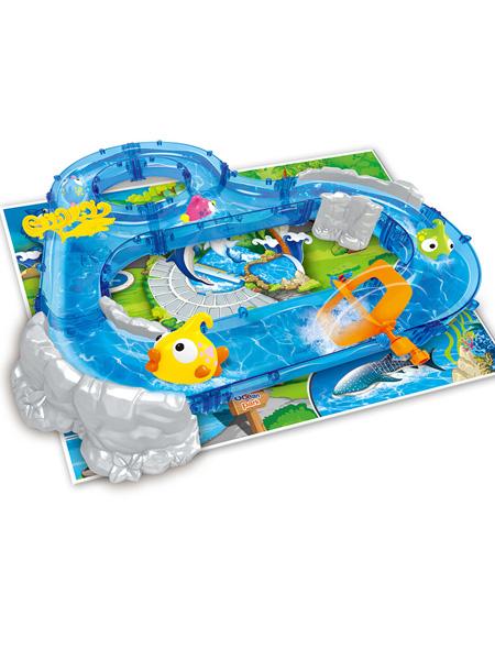 烨星婴童玩具钓鱼玩具水上乐园儿童轨道室内垂钓游戏隧道山景868-4套装批发