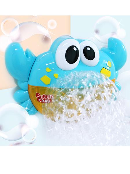 烨星婴童玩具韩国螃蟹泡泡机玩具电动音乐洗澡沐浴伴侣吐泡泡蟹创意玩具