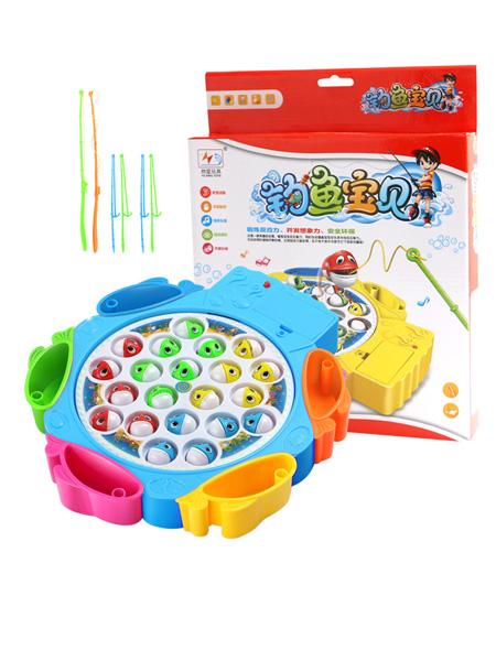 烨星婴童玩具包邮儿童钓鱼盘电动玩具大号音乐旋转益智男女孩亲子互动玩具1岁3