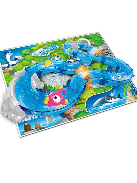 烨星婴童玩具儿童轨道钓鱼水上乐园玩具室内垂钓游戏隧道山景868-6套装批发