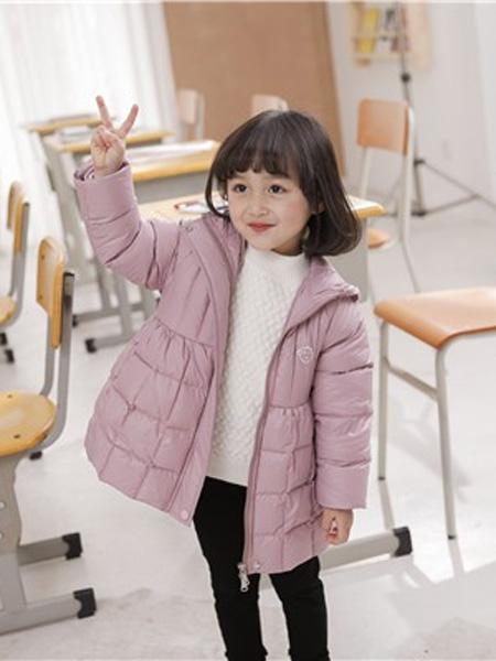 PEIQI KIDS童装品牌2020秋冬粉色时尚羽绒服