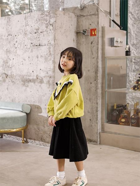 PEIQI KIDS童装品牌2020秋冬黄色休闲上衣