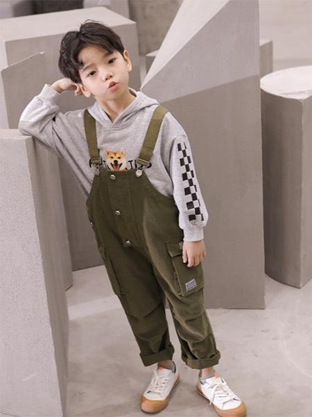 PEIQI KIDS童装品牌2020秋冬淡绿色休吊打裤