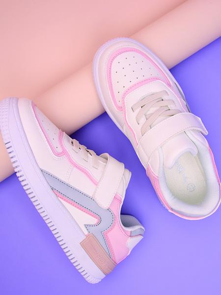 红蜻蜓童鞋品牌2020秋冬粉色板鞋