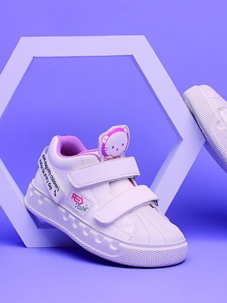 红蜻蜓童鞋品牌2020秋冬白色卡通板鞋