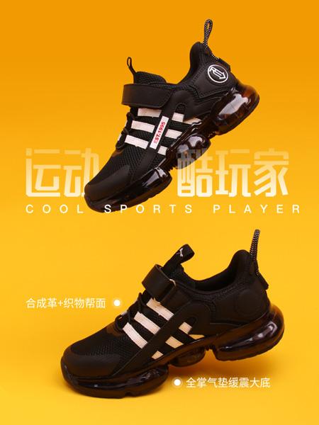 红蜻蜓童鞋品牌2020秋冬黑色条纹运动鞋
