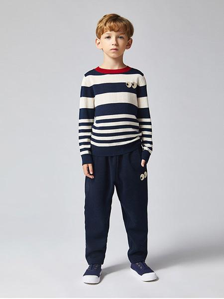 蜜糖宝贝 Mittit Baby童装品牌2020秋冬黑白条纹上衣