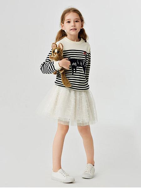 蜜糖宝贝 Mittit Baby童装品牌2020秋冬黑白条纹印花上衣