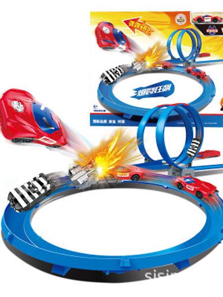 思成智能婴童玩具思成sising爆裂勇士烈影飞车儿童轨道车套装益智男孩玩具双人赛车