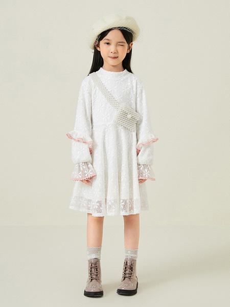 gxg.kids童装品牌2020秋冬白色公主连衣裙