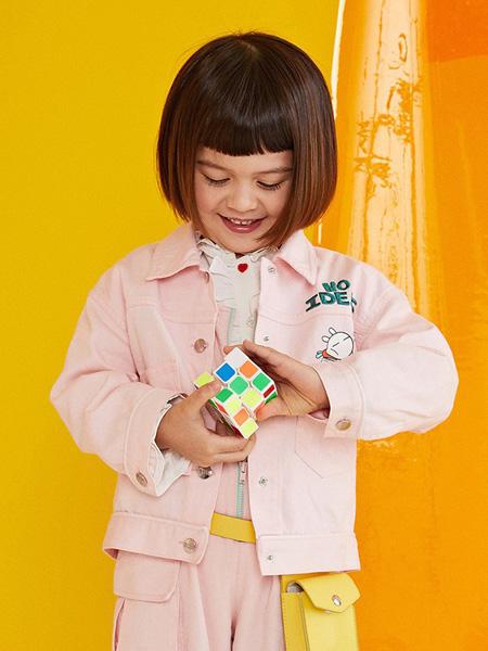 gxg.kids童装品牌2020秋冬粉色卡通印花外套