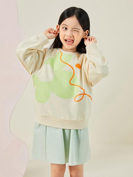 gxg.kids童装品牌2020秋冬米色印花上衣