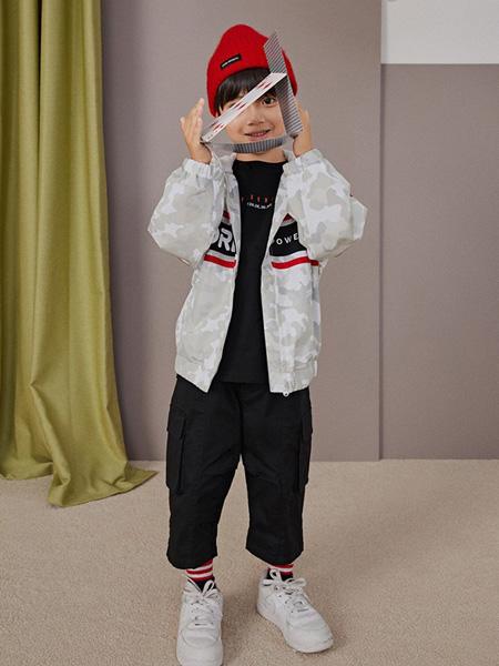 gxg.kids童装品牌2020秋冬白色条纹外套