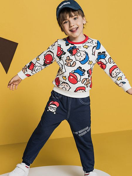 安踏儿童童装品牌2020秋冬纯棉童趣T恤