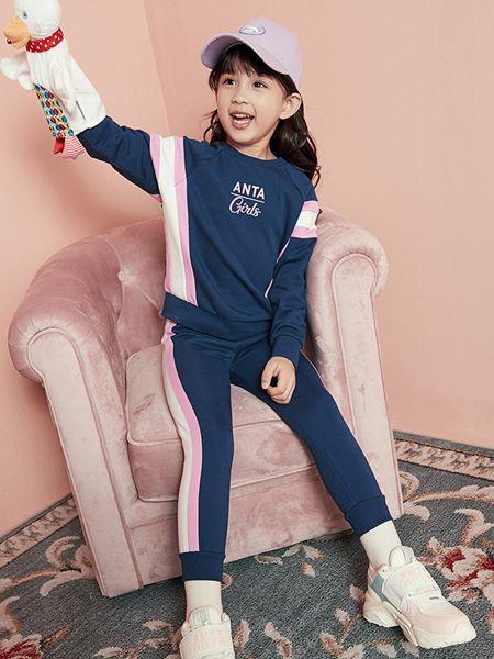 安踏儿童童装品牌2020秋冬森系两件套