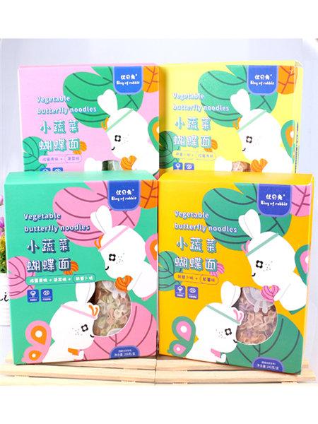 优贝兔婴儿食品小蔬菜蝴蝶面